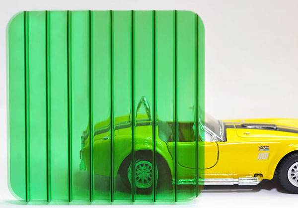 Полікарбонат стільниковий (сотовий) 8мм зелений OSCAR Сербія