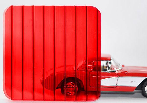 Полікарбонат стільниковий (сотовий) 6мм червоний OSCAR Сербія
